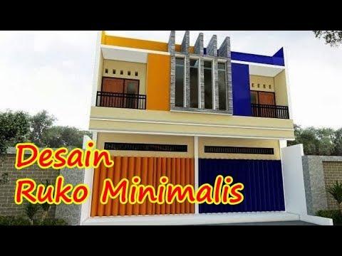 Model Desain Ruko Minimalis 1 2 3 Lantai Sederhana Modern Tampak