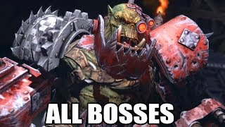 Warhammer 40K: Space Marine - All Bosses (With Cutscenes) HD 1080p60 PC