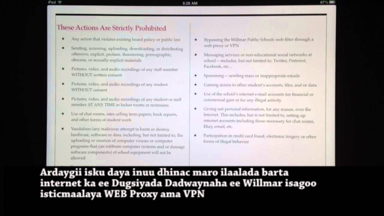 iPad 1:1 / Tababarka iPad ka - Somali