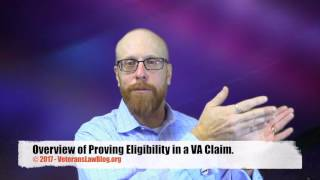 Proving Eligibility for VA Service Connection Compensation Benefits.
