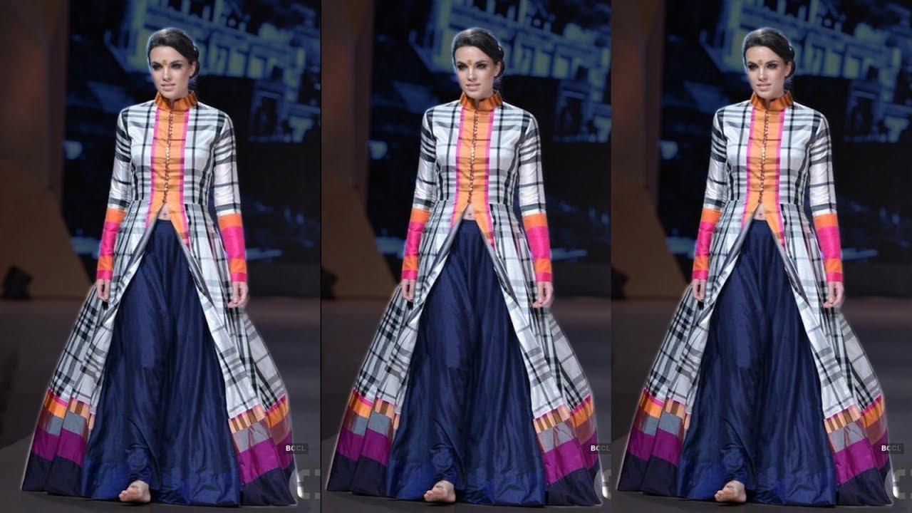 82c834842b Beautiful Lehenga Slit Kurti Designs with Models Catalog 2018 ...