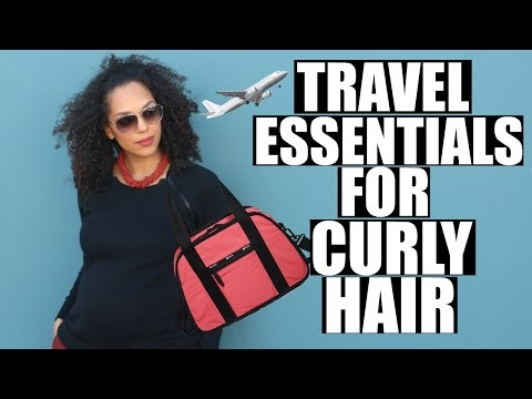 TRAVEL ESSENTIALS FOR CURLY HAIR | DISCOCURLSTV