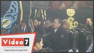أحمد السعدنى وهشام عباس ورامى صبرى فى عزاء والد الفنان خالد سليم