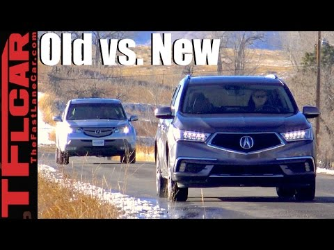 Old Vs New 2017 Acura Mdx 2007 0 60 Mph Mashup Review