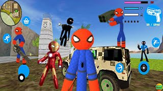 Update Spider Stickman Rope Hero Game Simulator Vice City Crime Gangster screenshot 5