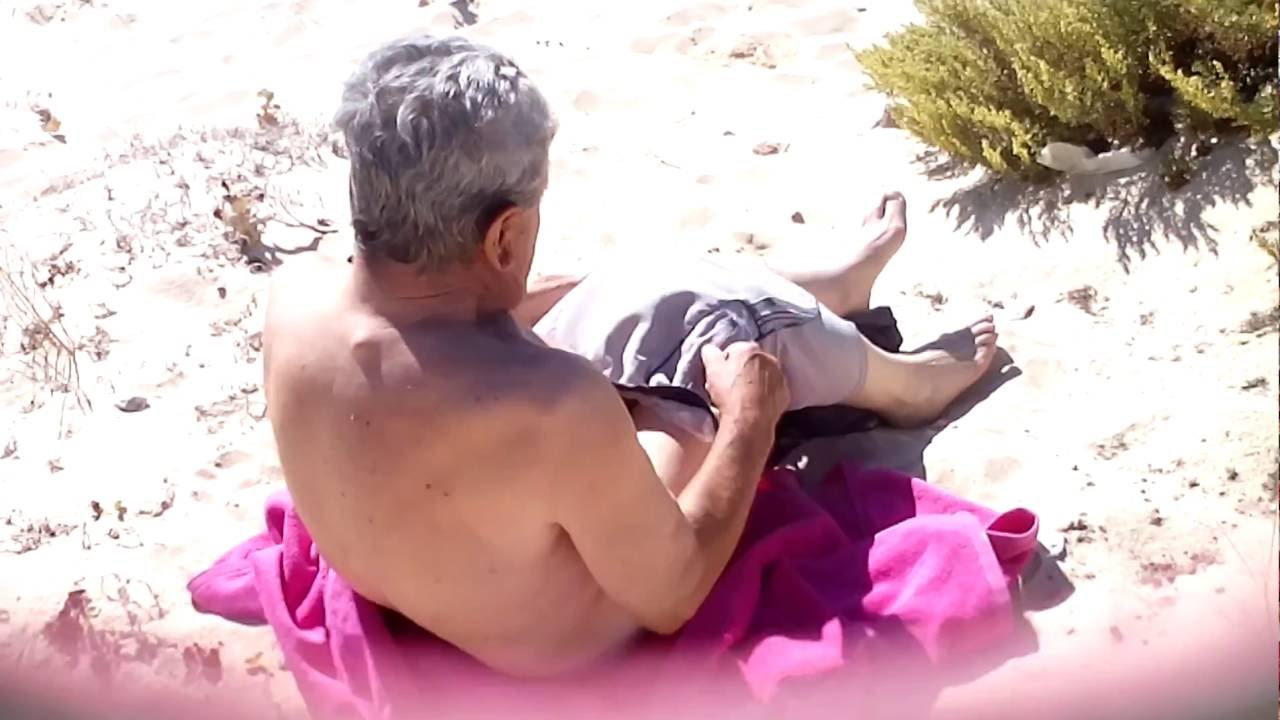 Old Man Gets Nude On The Beach