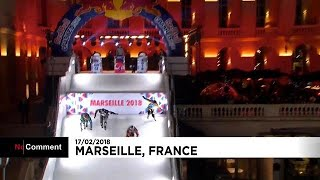 Crashed ice: Naasz ignites title fight in France