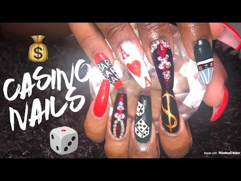 Acrylic Nails Tutorial | Casino Nails