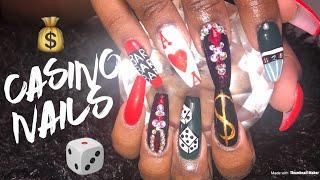 Acrylic Nails Tutorial | Casino Nails