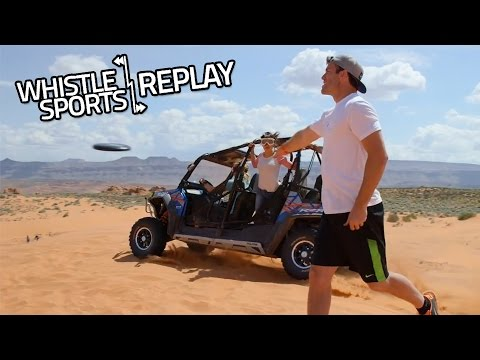 Brodie Smith Epic Frisbee Sand Dune Catch   Food Trick Shots!