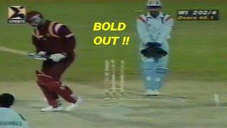 India vs West Indies Cricket Highlights @Sharjah   Akai Singer Champions Trophy 1997