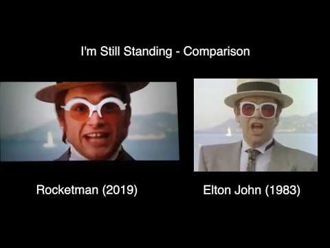 Rocketman Movie - I'm Still Standing Comparison (Movie VS Original)