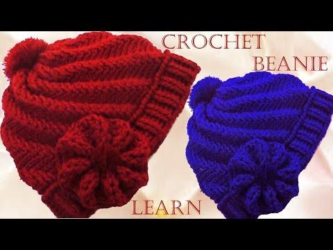 Como tejer gorro Boina a Crochet o Ganchillo en punto remolino en relieve