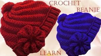 Como tejer gorro Boina a Crochet o Ganchillo en punto remolino en relieve fda7e13d7a1