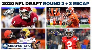 Who had the BEST and WORST picks | 2nd + 3rd Round NFL Draft recap | CBS Sports HQ