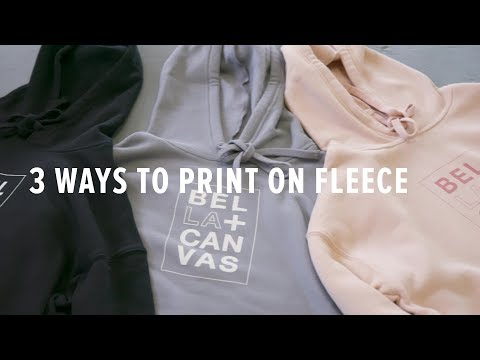 3 Ways to Print on Fleece Fabric