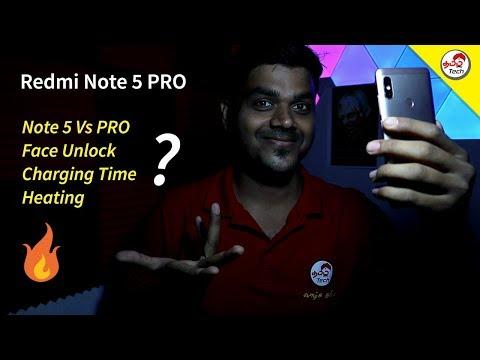 Redmi Note 5 Pro : FAQ - Face Unlock , NFC , Heating , Charging Time | Tamil Tech