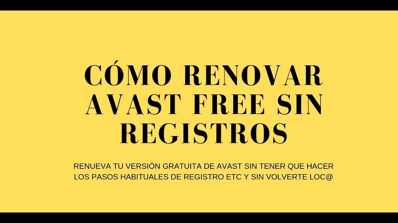 como renovar el avast free antivirus