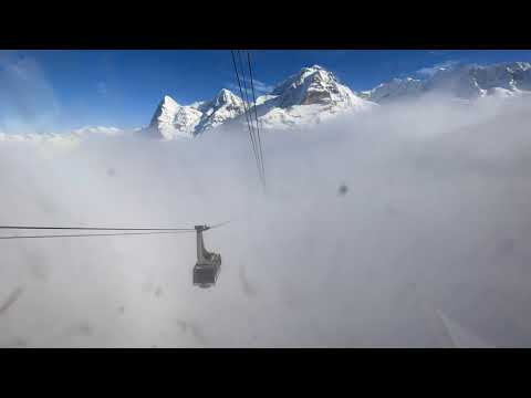 Birg to Mürren through the clouds