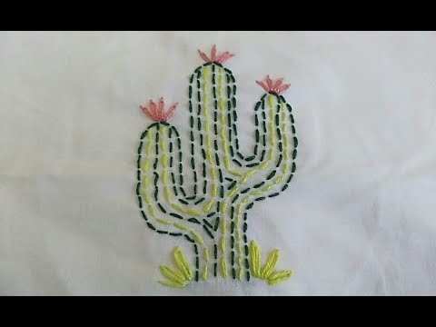 How To Make Charming Cactus Embroidery Youtube