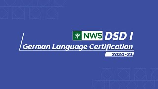 DSD I, German Language Certification, Session 2020-21 Draft 2