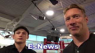 McGregor Sparring Partner Bradley: Talks Conor Malignaggi JUST WATCH TAPE EsNews Boxing