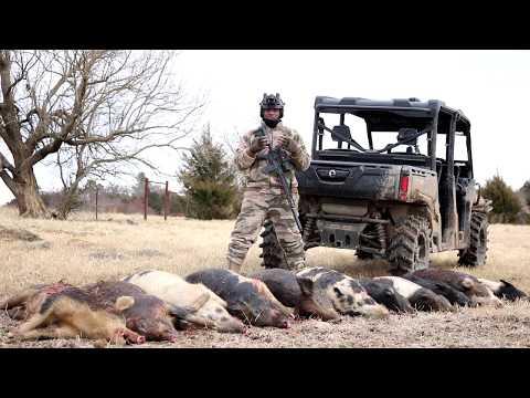 Texas hog hunting with the Pulsar XQ50
