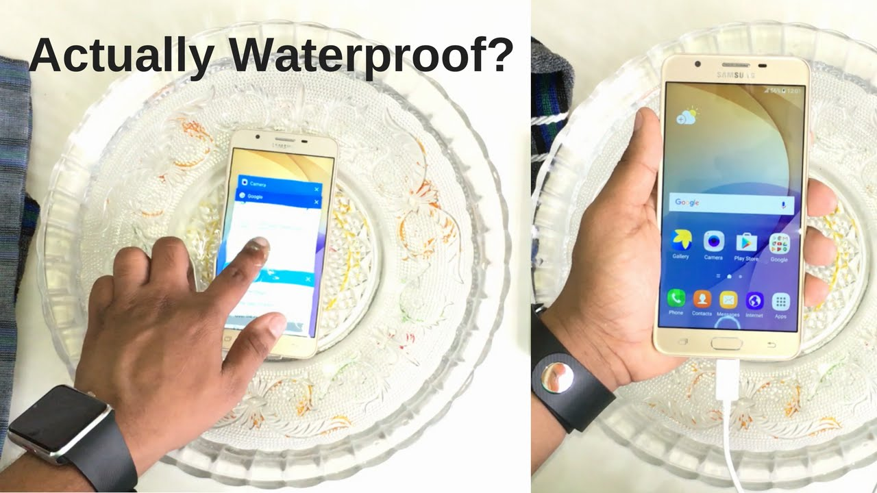 Samsung Galaxy J7 Prime Water Test! Actually Waterproof? - YouTube