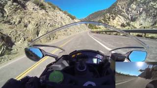 2015 ZX10R Angeles Crest Break In Ride - Leaving Newcomb