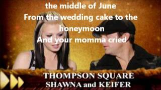 thompson square are you gonna kiss me or not with lyrics