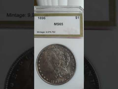 PCI MS 65 1896 MORGAN SILVER DOLLAR