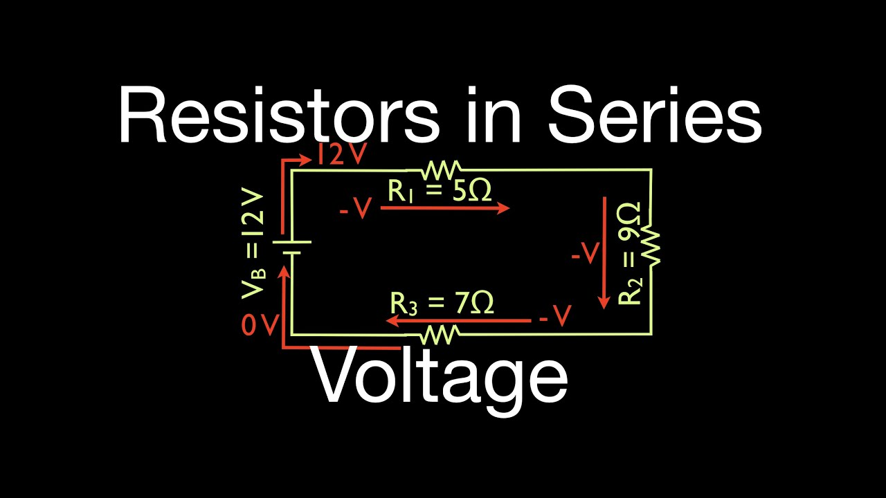 Resistors 8 Of 11 In Series Calculating Voltage Youtube How To Solve A Parallel Circuit Premium