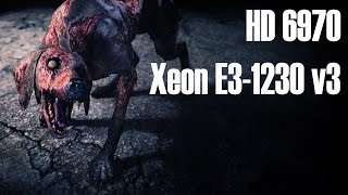 RE 6 Benchmark - HD 6970 Xeon E3-1230 v3 - 1080p