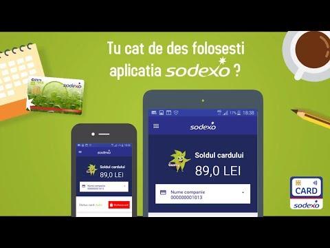 Aplicatia Card Sodexo Romania - Soldul cardului de masa