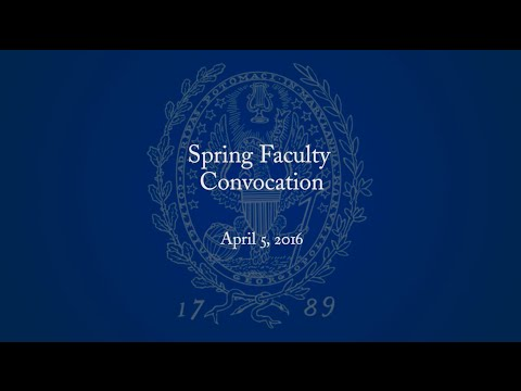 Spring Faculty Convocation 2016