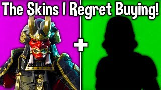 10 SKINS I REGRET BUYING IN FORTNITE! (I Wish I Could Refund These Skins)