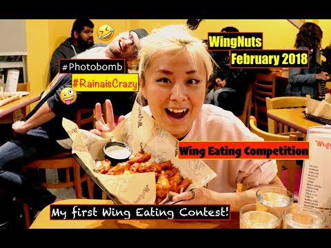 Wing Eating Competition | Wingnuts February 2018 | Costa Mesa | RainaisCrazy