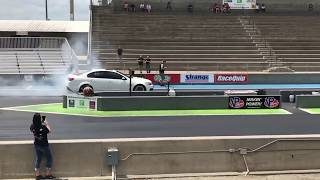 Mike Sylvesters Chevy SS making the 9.036 @ 156.77mph pass