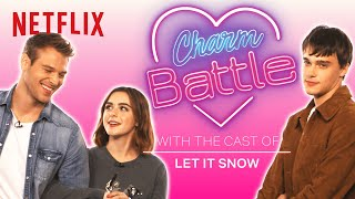 Let It Snow Cast Tries Holiday Pick Up Lines | Charm Battle | Netflix