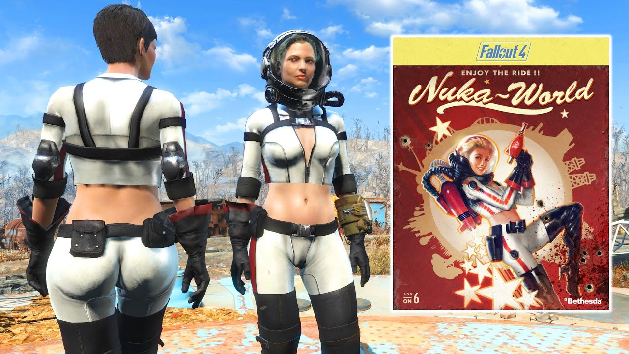 FALLOUT 4 NUKA WORLD OUTFIT AND GUN - Nuka Gear and Blaster ...