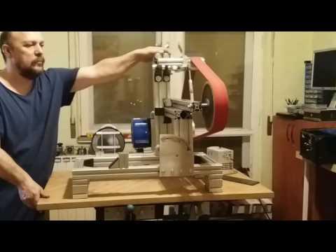 2X72 belt grinder testing movement .