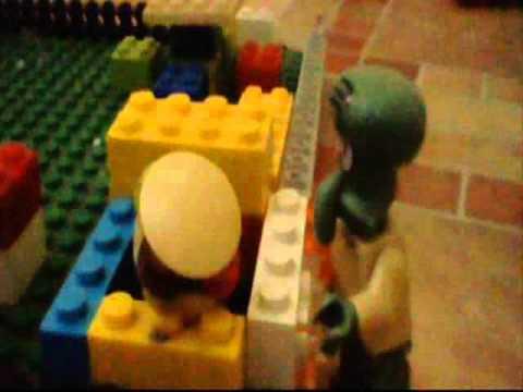 lego spongebob sad day