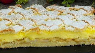 Особенный яблочный пирог с ванильным пудингом - нравится всем с первого кусочка! | Appetitno.TV