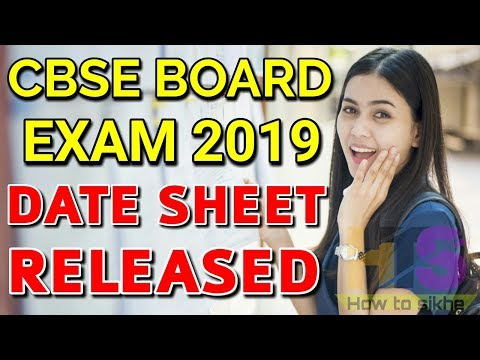 CBSE BOARD EXAM 2019 DATE SHEET RELEASED | CLASS 10th & 12th Time Table, Schedule Latest News Today