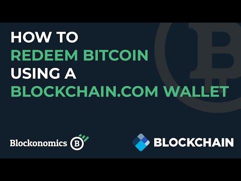 Redeeming Bitcoin Using Blockchain Wallet