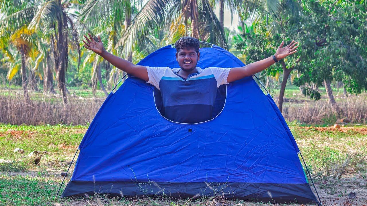 இந்த சின்ன வீடு Vera level😜  Tent Unboxing & Setup⛺ Camp🏕️ OutofFocus