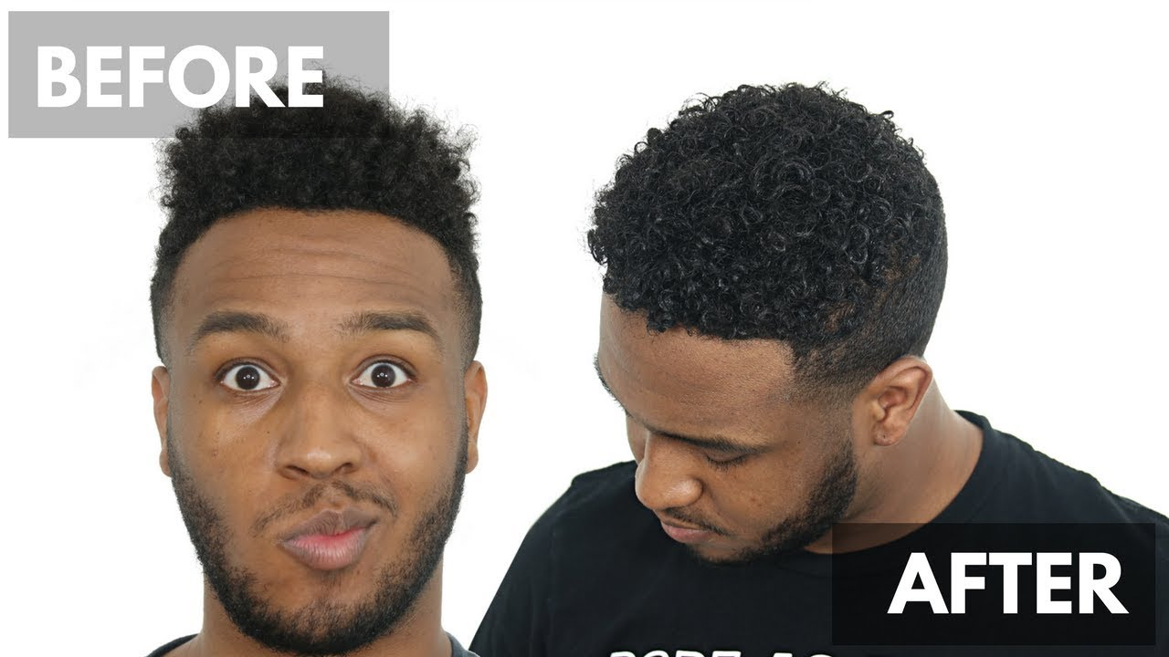 men's curly hair tutorial - 4a 3c