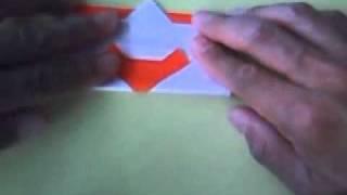 クリスマス向け サンタのオーナメントの作り方  Origami santa Ornament