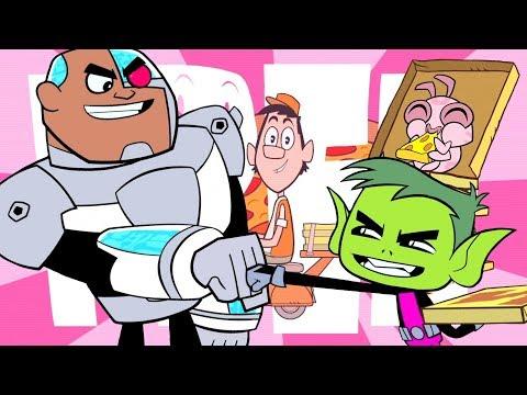 Teen Titans Go em Português  Pizza de Graça  DC Kids