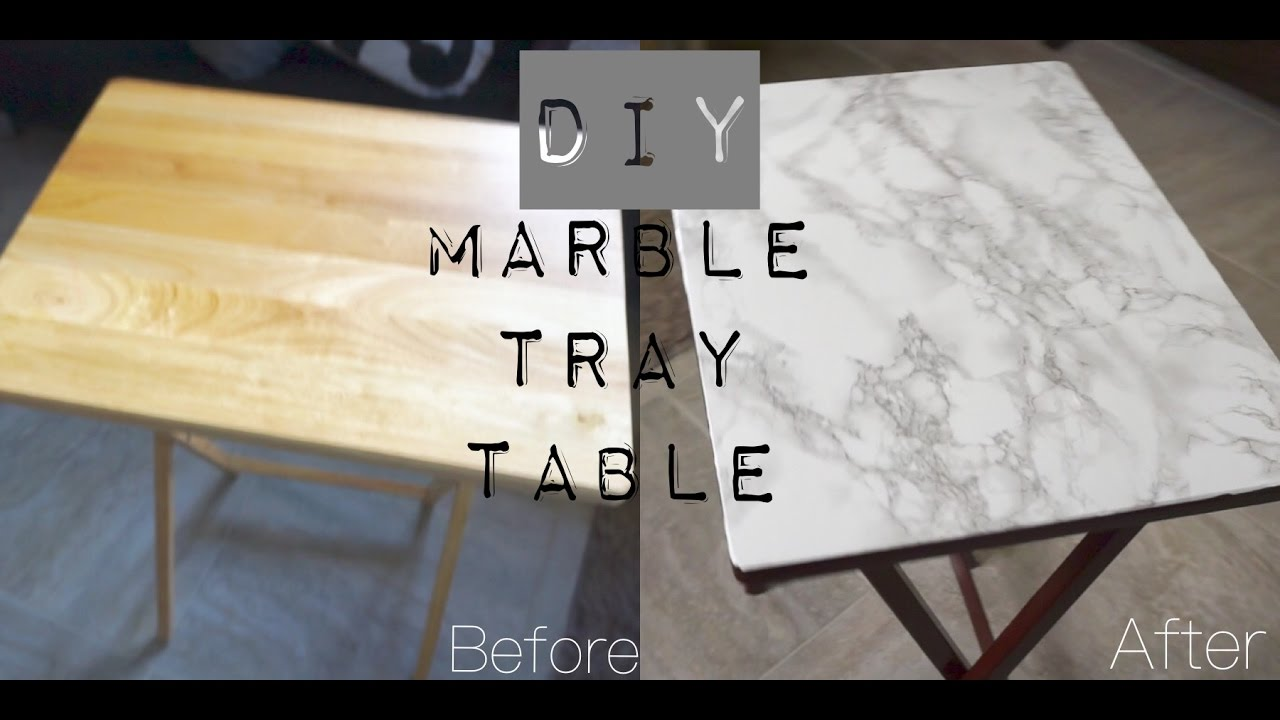 DIY Marble Tray Table | Shereezyxo